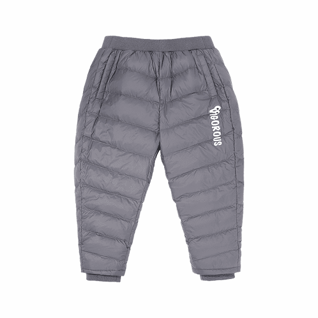 Xiaomi GoldFarm Duck Warm Children's Down Trousers (Grey)
